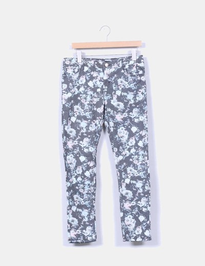Pantalón print floral Bershka