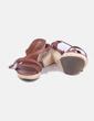 Sandalia de cuero marrón NoName