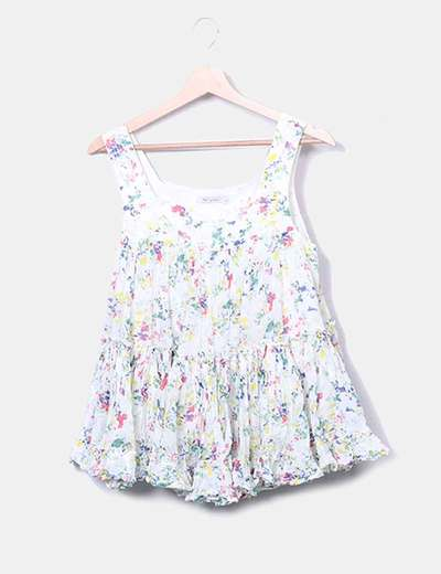 Blusa de tirantes con print floral