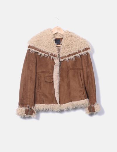 Brown coat with erasure MK