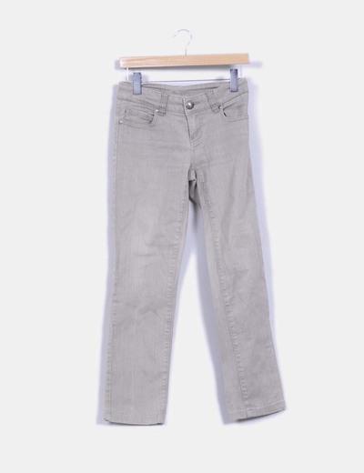 Pantalon recto gris piedra Fórmula Joven