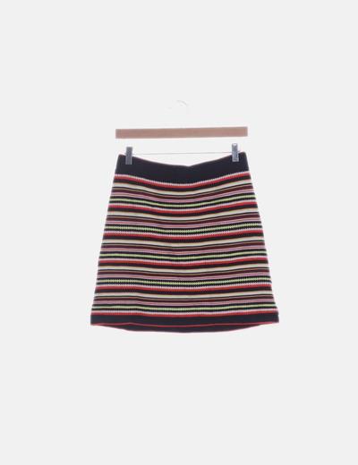 Falda tricot multicolor