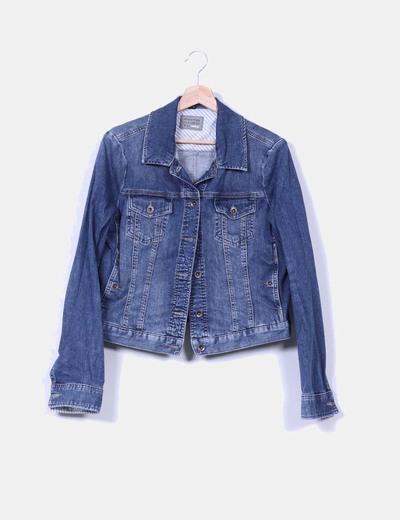 Veste en jeans de teinte foncée Mexx