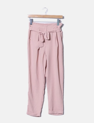 ajuste clásico a9802 6bae8 Pantalón lazo rosa