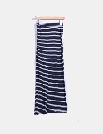Maxi falda de rayas bicolor Zara