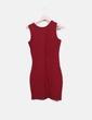 Vestido midi rojo sin mangas Sheinside