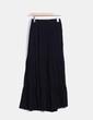 Falda larga negra Zara