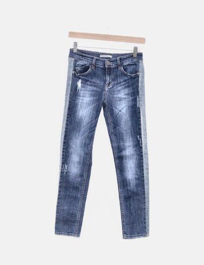 Jeans denim combinados
