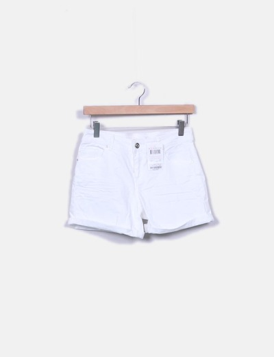 Short blanc en jeans Grain de Malice