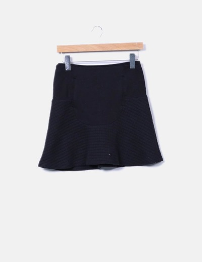 Black flared skirt Sfera