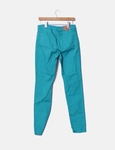 Pantalon pitillo verde agua