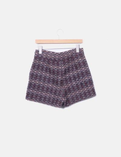 Short tricot combinado