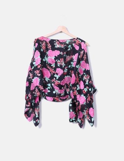 Blusa seda floral