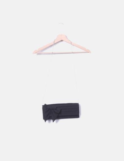 Sac noir cravate Brigitte bijou