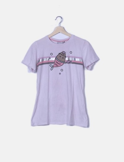 Camiseta rosa fish