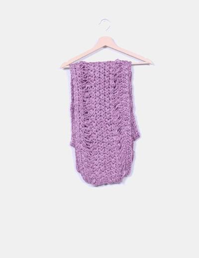 Bufanda lana lila NoName