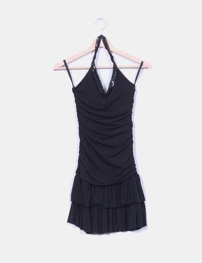 Vestido negro elástico Pimkie