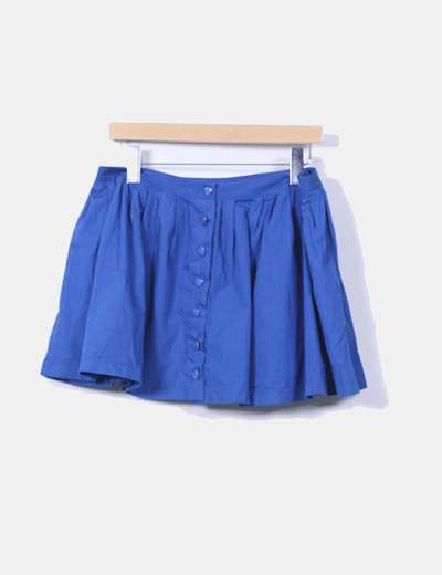 Mini falda azul Topshop