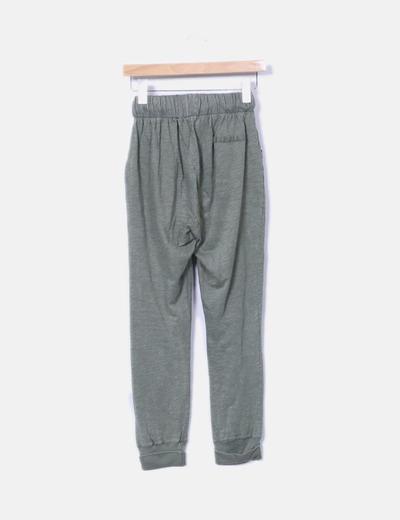 Pantalon baggy verde kaki