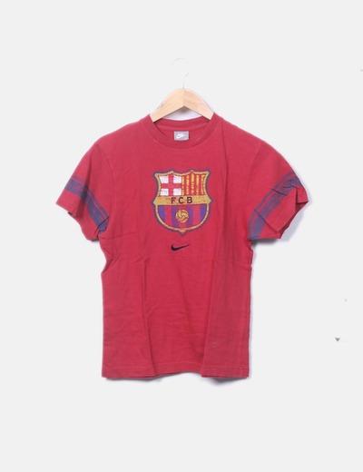Camiseta roja print escudo