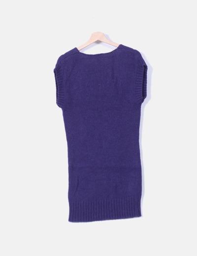 Vestido tricot morado