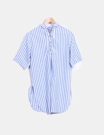 Camisola de rayas azul y blanco