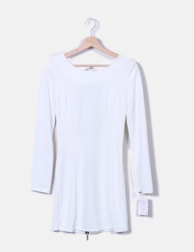 vestido branco com manga | Comparar preço de vestido branco