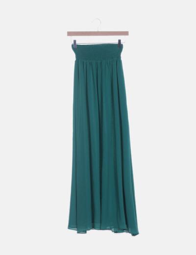 Falda de gasa verde