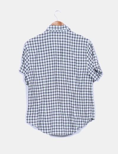 Camisa de cuadros manga corta