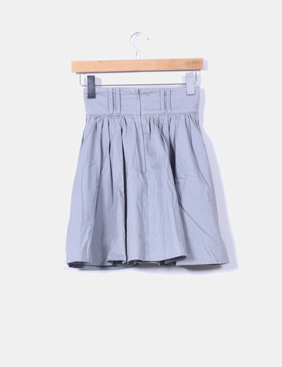 Mini falda gris de vuelo