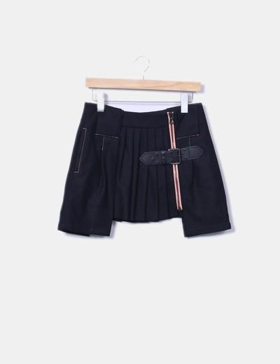 Mini-jupe noire plissée Hugo Boss