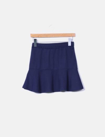 dd602a9f14e Lefties Mini falda azul marino con volante (descuento 54 %) - Micolet