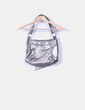 Bolso plateado con lazo  en piel  Yves Saint Laurent