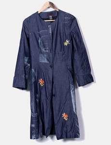 Jaqueta jeans longa com bordados Custo Barcelona a7c96c0d35d26