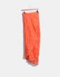Jupe longue orange ensemble mousseline avec doublure et blouse transparente Massimo Dutti