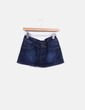 Mini falda denim oscuro Black Bat