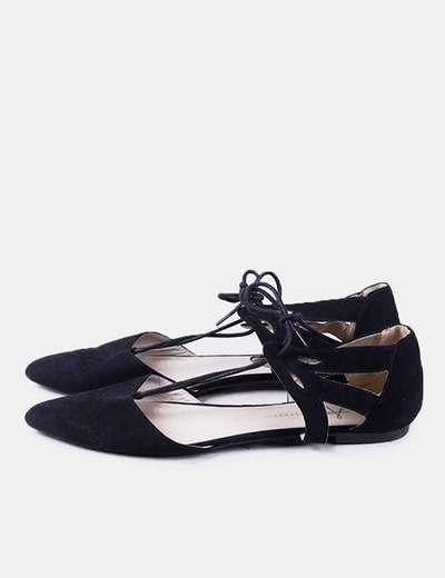 Bailarina negra lace up Primark