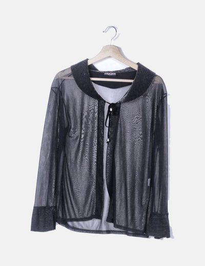 venta más barata el más nuevo vívido y de gran estilo Chaqueta negra transparente