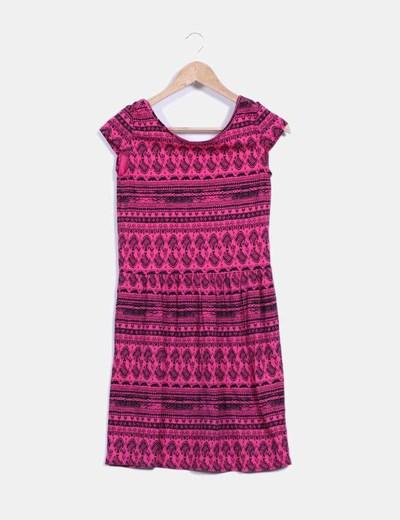 Vestido bicolor con estampado NoName