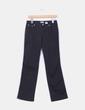 Pantalón negro corte recto, detalle tachas bolsillo  Moschino