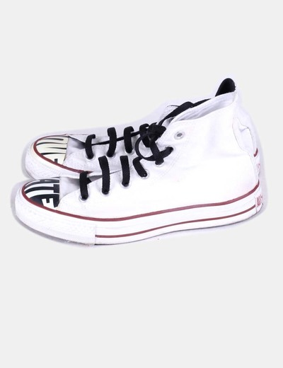 Bambas blancas abotinadas all star