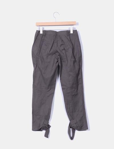 Pantalon kaki sport detalle cremalleras