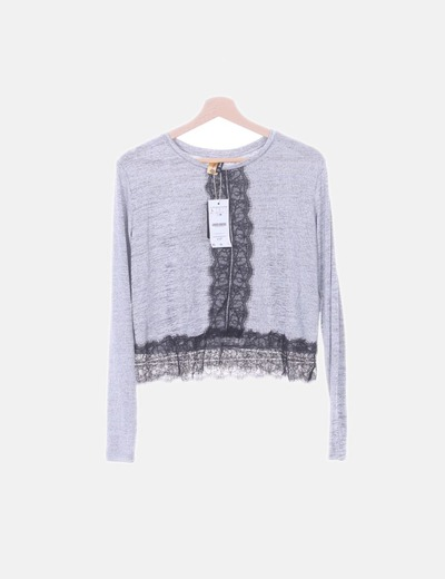 Camiseta de manga larga combinada