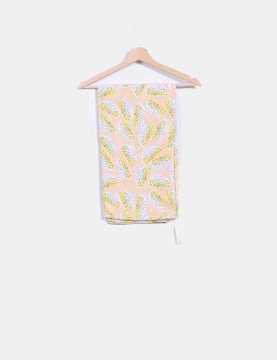 Foulard beige print sandías Pieces