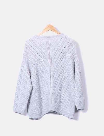 Jersey tricot gris jaspeado