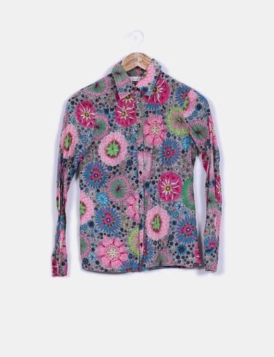 Camisa estampada floreada manga larga Trucco