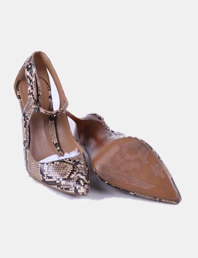 Zapato animal print de punta