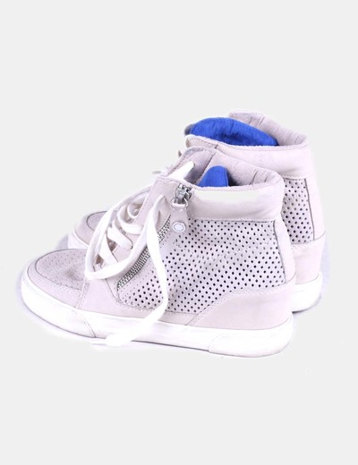 Sneaker calada beige Bershka