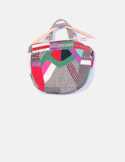Bolso tipo patchwork