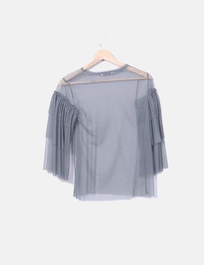 Blusa tul gris